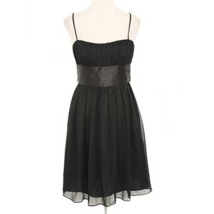 London Style Black Chiffon Tie Back Party Dress 8P
